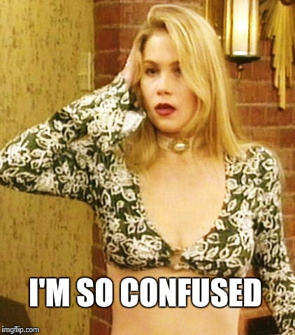 Kelly Bundy | I'M SO CONFUSED | image tagged in kelly bundy | made w/ Imgflip meme maker