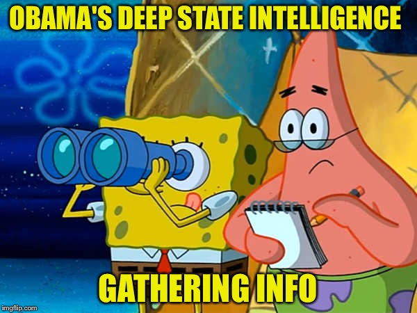 Spy |  OBAMA'S DEEP STATE INTELLIGENCE; GATHERING INFO | image tagged in spy | made w/ Imgflip meme maker