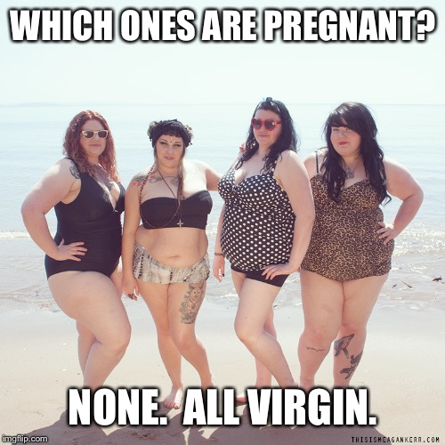 WHICH ONES ARE PREGNANT? NONE.  ALL VIRGIN. | made w/ Imgflip meme maker