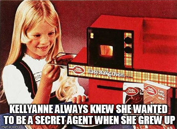 kellyanne microwave | KELLYANNE ALWAYS KNEW SHE WANTED TO BE A SECRET AGENT WHEN SHE GREW UP | image tagged in kellyanne conway,microwave,spy | made w/ Imgflip meme maker