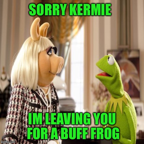 SORRY KERMIE IM LEAVING YOU FOR A BUFF FROG | made w/ Imgflip meme maker