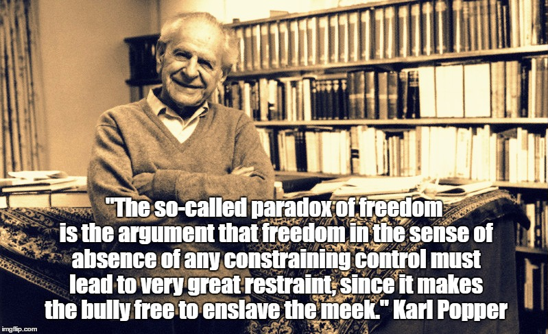 Image result for pax on both houses, karl popper