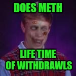 DOES METH LIFE TIME OF WITHDRAWLS | made w/ Imgflip meme maker