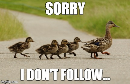 SORRY I DON'T FOLLOW... | made w/ Imgflip meme maker
