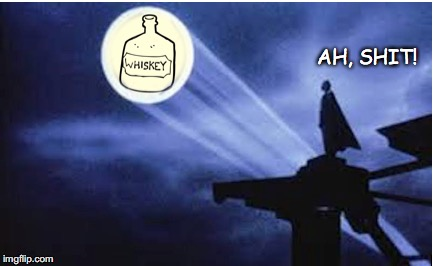Batman's Dark Night |  AH, SHIT! | image tagged in batman,alcoholism,ben affleck | made w/ Imgflip meme maker