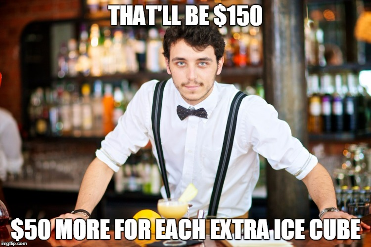 THAT'LL BE $150 $50 MORE FOR EACH EXTRA ICE CUBE | made w/ Imgflip meme maker