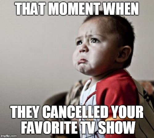 Criana | THAT MOMENT WHEN THEY CANCELLED YOUR FAVORITE TV SHOW | image tagged in memes,criana | made w/ Imgflip meme maker