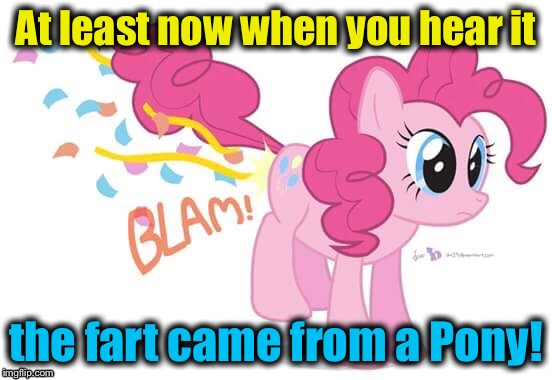 At least now when you hear it the fart came from a Pony! | made w/ Imgflip meme maker