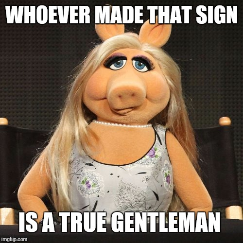 WHOEVER MADE THAT SIGN IS A TRUE GENTLEMAN | made w/ Imgflip meme maker