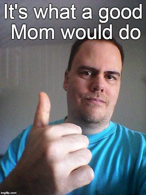Thumbs up | It's what a good Mom would do | image tagged in thumbs up | made w/ Imgflip meme maker