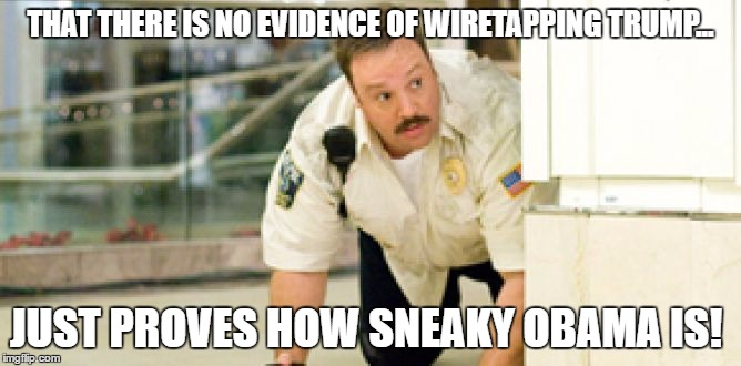 THAT THERE IS NO EVIDENCE OF WIRETAPPING TRUMP... JUST PROVES HOW SNEAKY OBAMA IS! | image tagged in sneaky paul | made w/ Imgflip meme maker