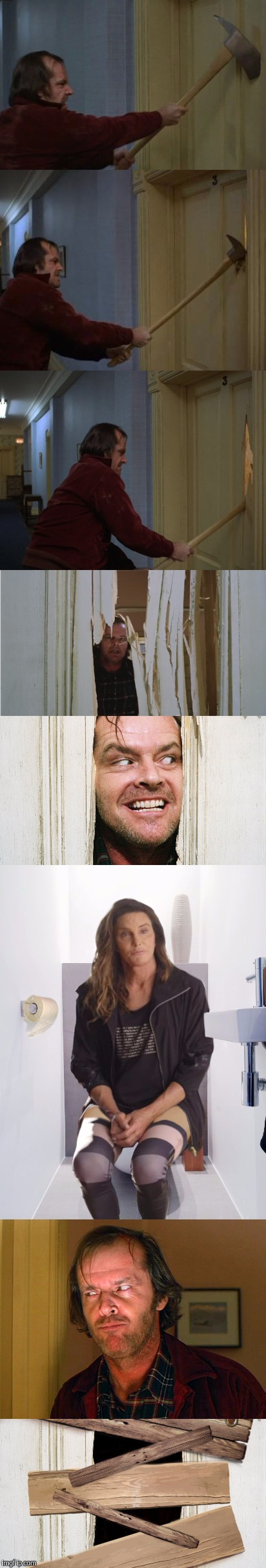 HERE'S......JOANIE? | . | image tagged in the shining,brucaitlyn jenner,funny | made w/ Imgflip meme maker