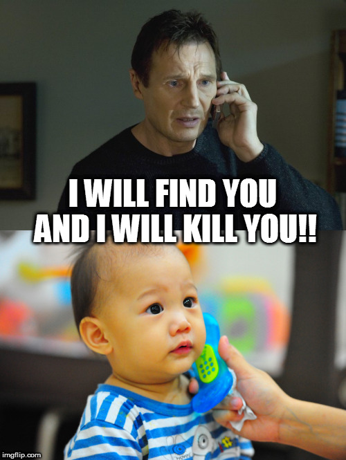 I asked for shrimp not pork | I WILL FIND YOU AND I WILL KILL YOU!! | image tagged in liam neeson taken,funny | made w/ Imgflip meme maker
