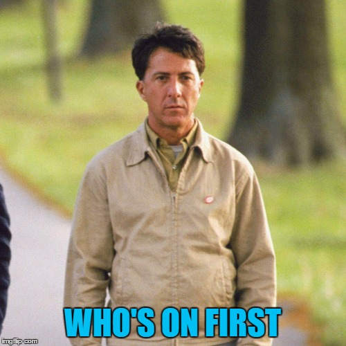 WHO'S ON FIRST | made w/ Imgflip meme maker