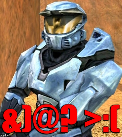 Church RvB Season 1 | &)@? >:( | image tagged in church rvb season 1 | made w/ Imgflip meme maker