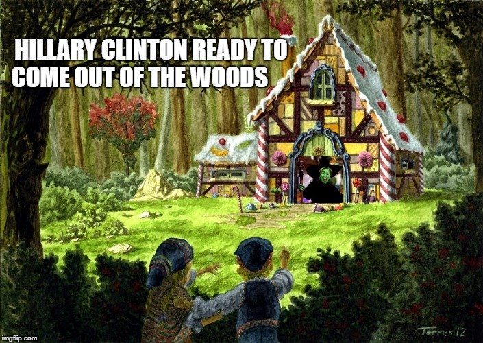 Hillary Clinton Ready To Come Out Of The Woods | HILLARY CLINTON READY TO COME OUT OF THE WOODS | image tagged in hillary clinton | made w/ Imgflip meme maker