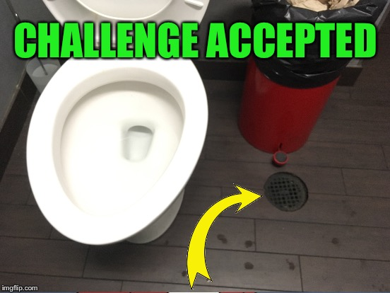 To pass a urine test... | CHALLENGE ACCEPTED | image tagged in memes,toilet humor | made w/ Imgflip meme maker