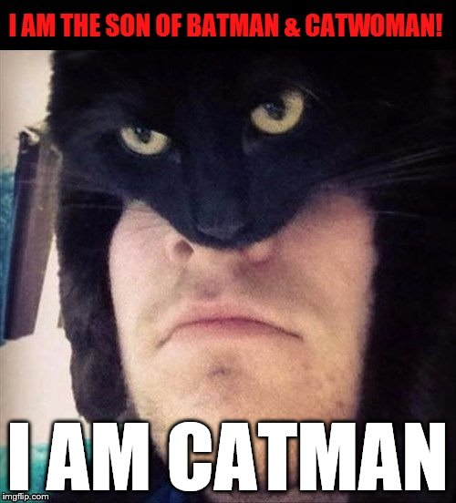CATMAN | I AM CATMAN | image tagged in catman | made w/ Imgflip meme maker