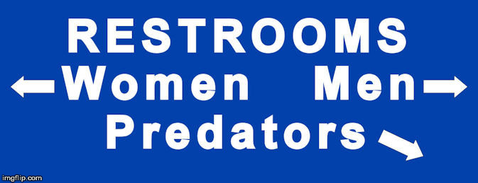 Bathroom sign - SOLVED! | Restrooms Women Men Predators | image tagged in bathroom sign | made w/ Imgflip meme maker
