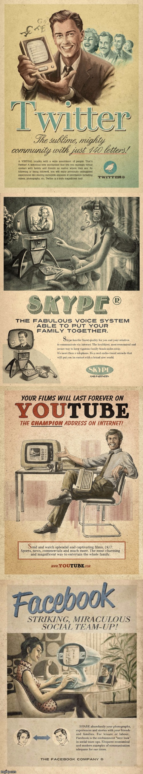 They had crazy technology back then. (Old ad week) | . | image tagged in old ad week | made w/ Imgflip meme maker