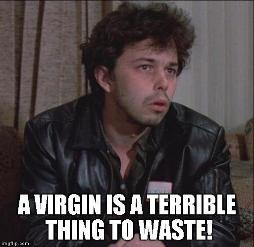A VIRGIN IS A TERRIBLE THING TO WASTE! | made w/ Imgflip meme maker