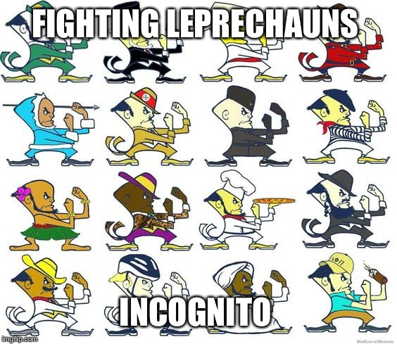 FIGHTING LEPRECHAUNS INCOGNITO | made w/ Imgflip meme maker
