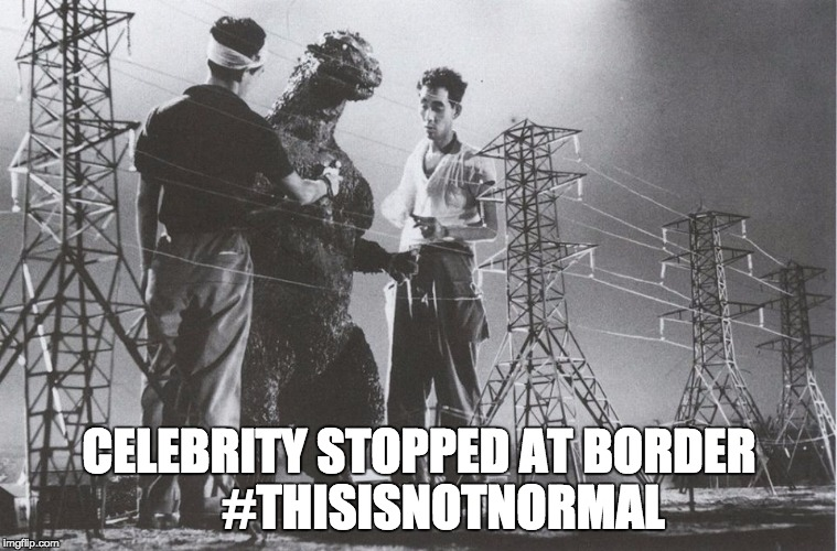 This Is Not Normal | CELEBRITY STOPPED AT BORDER     #THISISNOTNORMAL | image tagged in this is not normal,trump's wall,trump,border,border wall,open borders | made w/ Imgflip meme maker