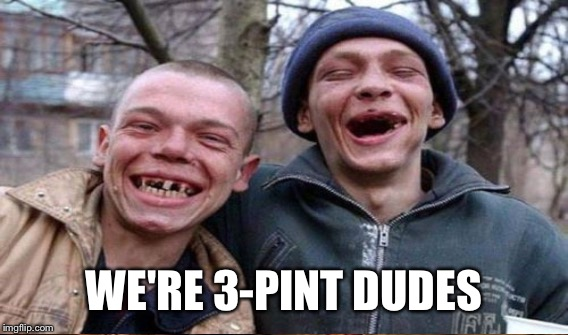 WE'RE 3-PINT DUDES | made w/ Imgflip meme maker