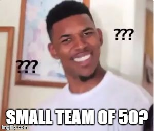 Nick Young | SMALL TEAM OF 50? | image tagged in nick young | made w/ Imgflip meme maker