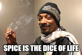 Drop it like its pot | SPICE IS THE DICE OF LIFE | image tagged in memes,snoop dog,420 week | made w/ Imgflip meme maker