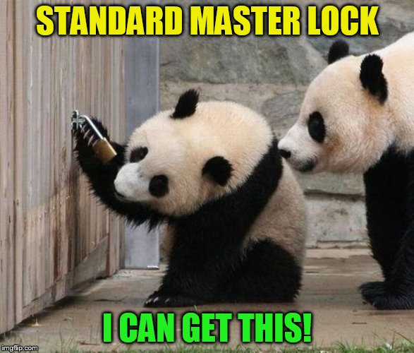 STANDARD MASTER LOCK I CAN GET THIS! | made w/ Imgflip meme maker