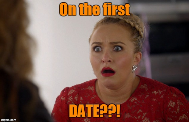 On the first DATE??! | made w/ Imgflip meme maker
