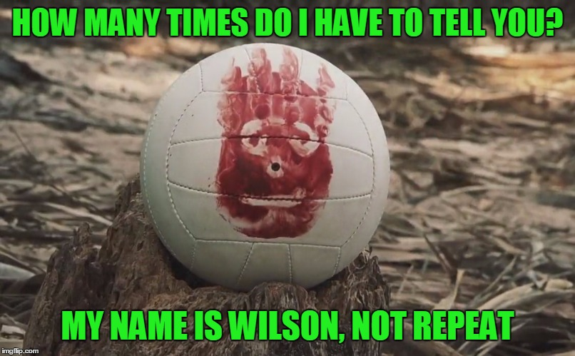 HOW MANY TIMES DO I HAVE TO TELL YOU? MY NAME IS WILSON, NOT REPEAT | made w/ Imgflip meme maker