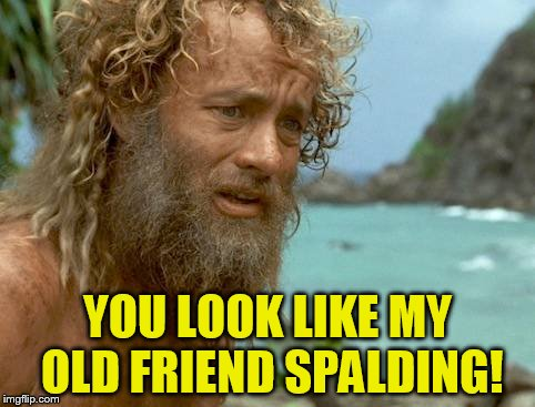 YOU LOOK LIKE MY OLD FRIEND SPALDING! | made w/ Imgflip meme maker