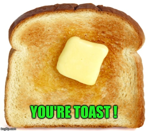 YOU'RE TOAST ! | made w/ Imgflip meme maker