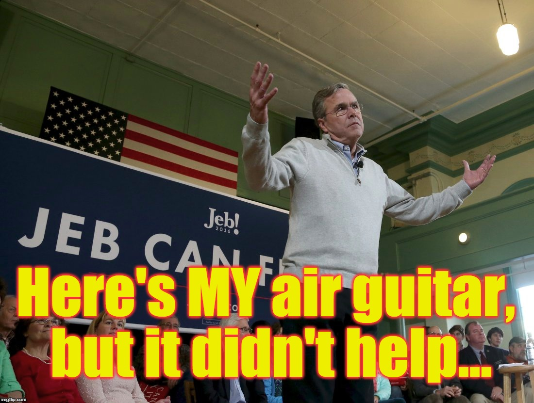 Here's MY air guitar, but it didn't help... | made w/ Imgflip meme maker