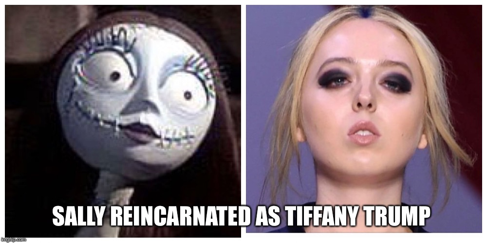 Tiffany Trump | SALLY REINCARNATED AS TIFFANY TRUMP | image tagged in tiffany,trump,sally,scary,dead | made w/ Imgflip meme maker