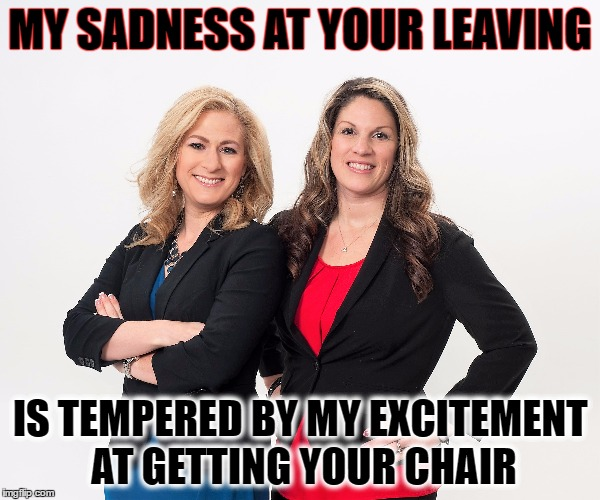 MY SADNESS AT YOUR LEAVING IS TEMPERED BY MY EXCITEMENT AT GETTING YOUR CHAIR | image tagged in coworker,leaving | made w/ Imgflip meme maker