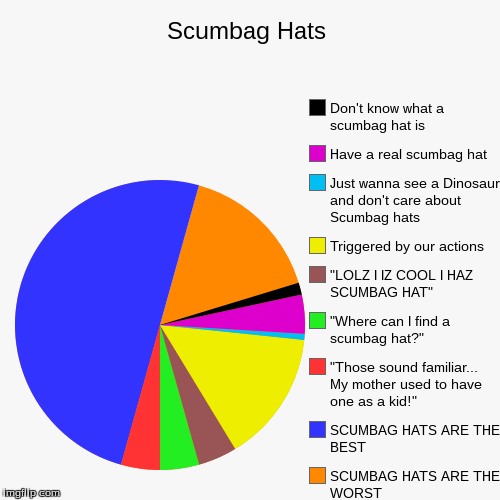"Scumbag Hats | SCUMBAG HATS ARE THE WORST, SCUMBAG HATS ARE THE BEST, ""Those sound familiar... My mother used to have one as a kid!"", ""Where 