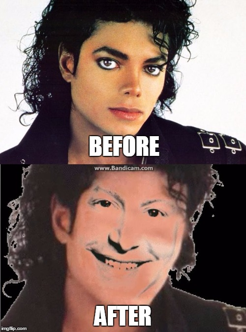 Michael jackson before and after imgflip for Maker jackson