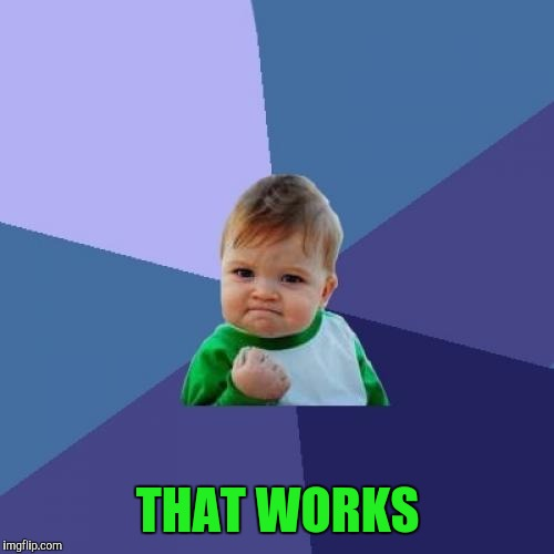 Success Kid Meme | THAT WORKS | image tagged in memes,success kid | made w/ Imgflip meme maker