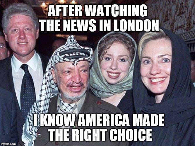 1m15j1 image tagged in trump,bill clinton,hillary clinton,london,terrorism