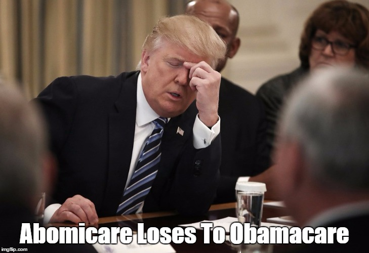 Abomicare Loses To Obamacare | made w/ Imgflip meme maker