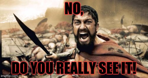 Sparta Leonidas Meme | NO, DO YOU REALLY SEE IT! | image tagged in memes,sparta leonidas | made w/ Imgflip meme maker