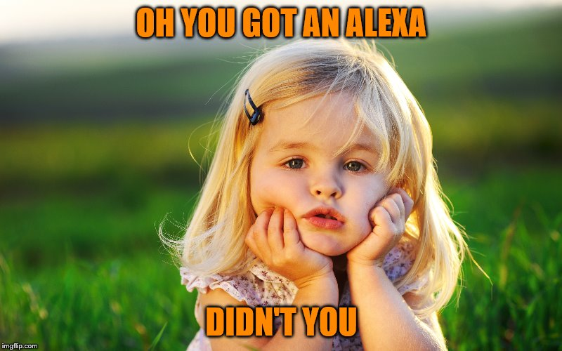 OH YOU GOT AN ALEXA DIDN'T YOU | made w/ Imgflip meme maker