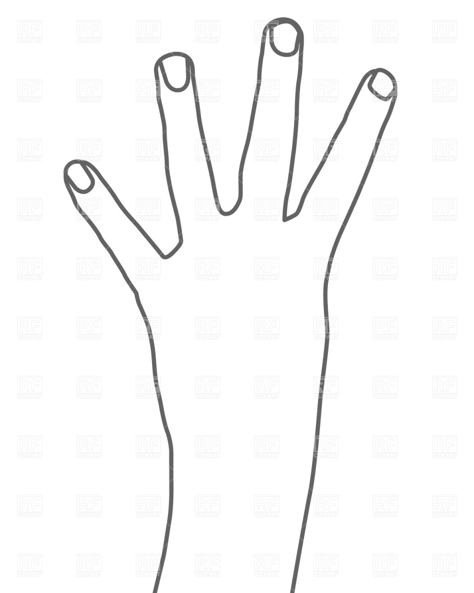 four fingers hand blank template imgflip