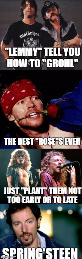 "Garden Tips from Rock Legends ""Old Singer Week""  