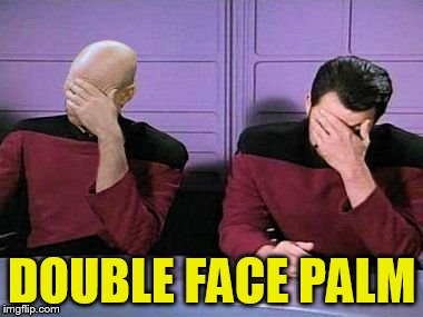 double palm | DOUBLE FACE PALM | image tagged in double palm | made w/ Imgflip meme maker