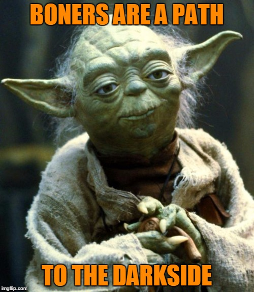 Star Wars Yoda Meme | BONERS ARE A PATH TO THE DARKSIDE | image tagged in memes,star wars yoda | made w/ Imgflip meme maker