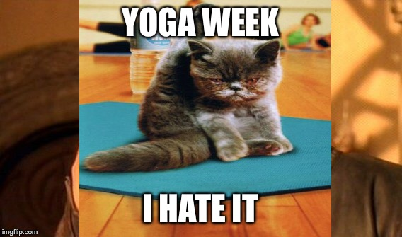 YOGA WEEK I HATE IT | made w/ Imgflip meme maker